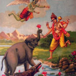 Gajendra being saved by Lord Vishnu